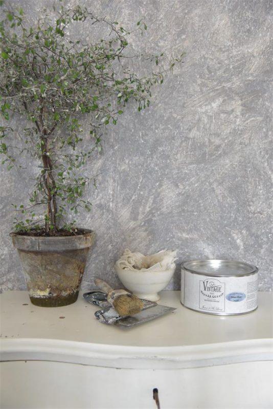 Vintage Effetto Industrial argento blu