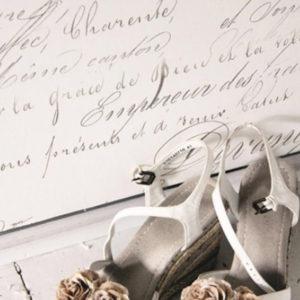 Carta da Parati Crema con scritte